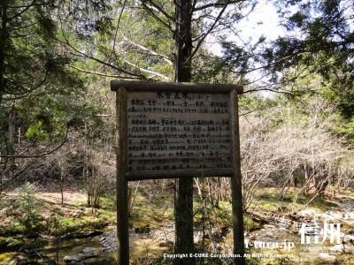 木曽五木についての看板