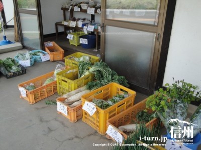 産直販売の野菜