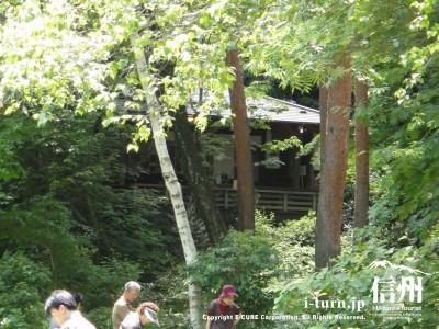林の中にお蕎麦屋さん