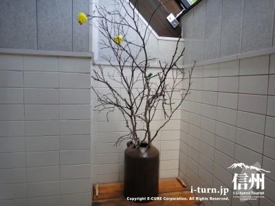 木が飾ってあります