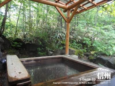 完全に森の中にある風呂です