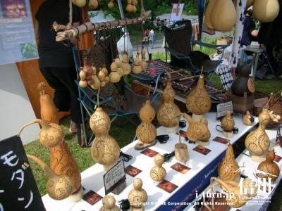 ひょうたんの木工品