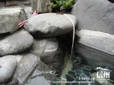 露天風呂の栓