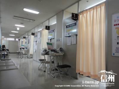 診察室がズラリと並びます