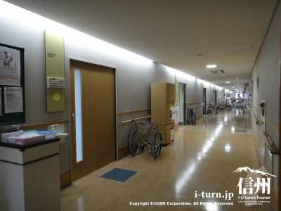入院の4人部屋の並び