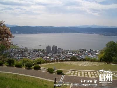 立石公園から見た諏訪湖全景