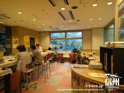 長野市民病院のコーヒーショップMainDishの店内
