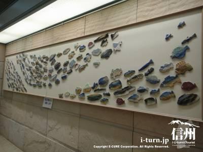 長野市民病院に飾ってあった海の生物焼きもの