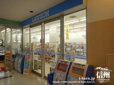 長野市民病院にあるコンビニローソンの店頭風景
