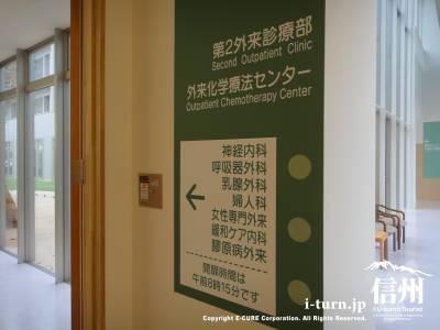 長野市民病院の第2外来診療部の看板