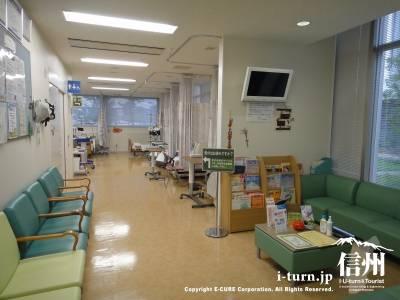 長野市民病院の外来化学療法センターの待合