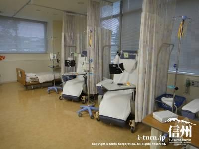 長野市民病院の外来化学療法センターの内部