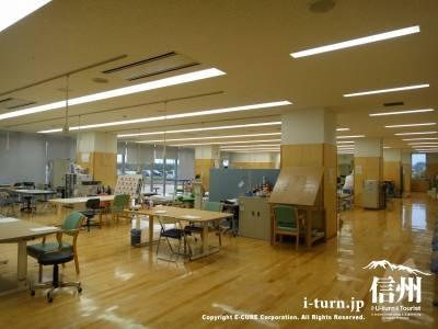 長野市民病院のリハビリセンター内部全体