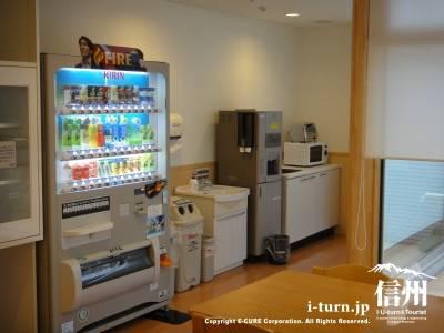 長野市民病院の病棟にある自販機コーナー