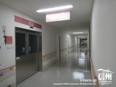 長野市民病院のICU前の廊下