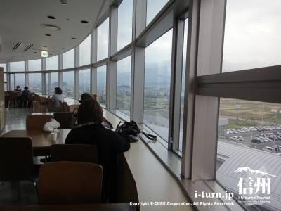 長野市民病院の病棟にある展望が良い場所
