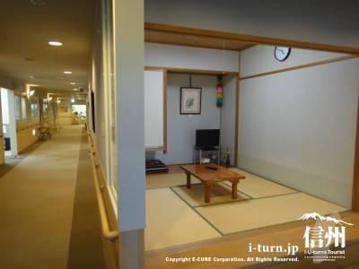 長野市民病院の病棟にある和室