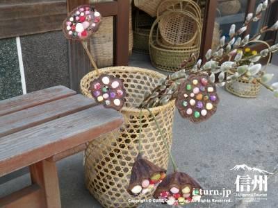 竹かごと蓮細工