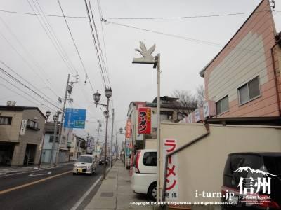 お店の前の道路