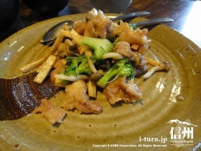 鶏肉と野菜の生姜香り炒め