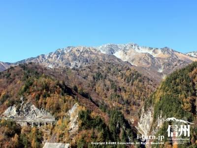 紅葉の季節の立山連峰