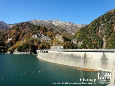 ダム湖と堰堤