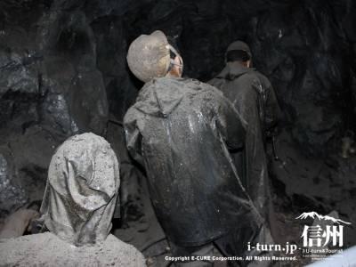 トンネル掘削工事の現場の再現