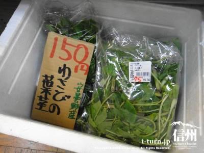 わさびの葉茎売り場