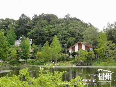 湖畔からみる別荘