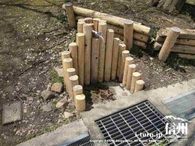 園内には水道