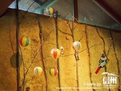 紙風船の装飾