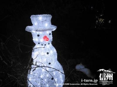 雪だるまのイルミネーション
