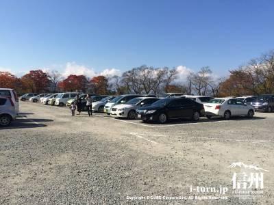 秋まつり中ということもあり駐車場には沢山の車