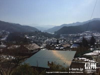 神社から見る高遠の風景