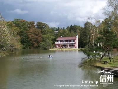 軽井沢タリヤセンにある「睡鳩荘」旧朝吹山荘|軽井沢町塩沢湖