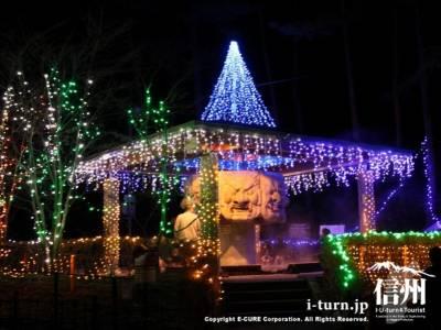 光の安曇野伝説2011-12|八面大王足湯のイルミネーション|安曇野市穂高