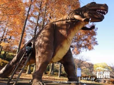 茶臼山恐竜公園【1】|実物大模型の恐竜が勢揃い|長野市篠ノ井