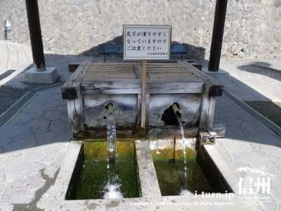 北門大井戸|総掘が埋め立てられた時にできた井戸|松本市
