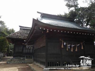 千鹿頭神社|御柱大祭の行われる展望台のある神社|松本市神田