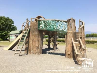 信州スカイパーク子供広場|離発着する飛行機がよく見える公園|松本市神林