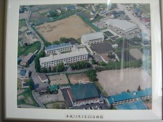 白馬高校空撮平成15年5月22日