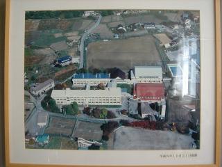 白馬高校空撮平成8年10月21日