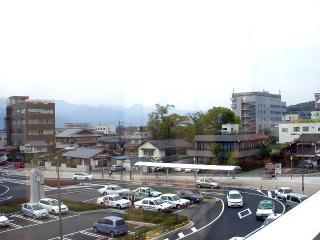 西口側の風景