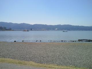 上諏訪から見た諏訪湖