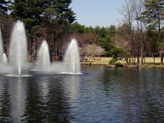 スカイパーク内の噴水