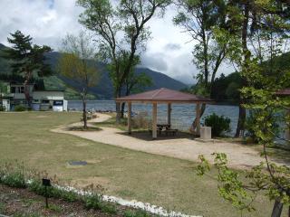 木崎湖の公園