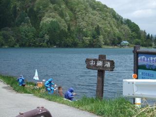 中綱湖でつり