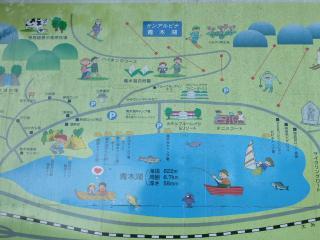 青木湖周辺マップ