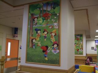 待合ホールの絵