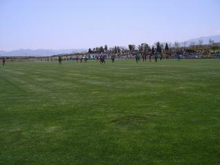 サッカー練習中